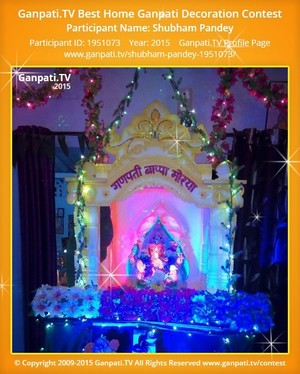 Shubham Pandey Ganpati Decoration
