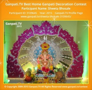 Shweta Bhosale Ganpati Decoration