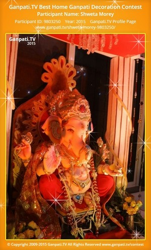 Shweta Morey Ganpati Decoration