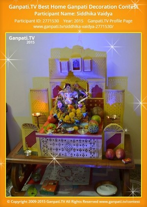 Siddhika Vaidya Ganpati Decoration