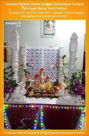Smriti Kothari Ganpati Decoration