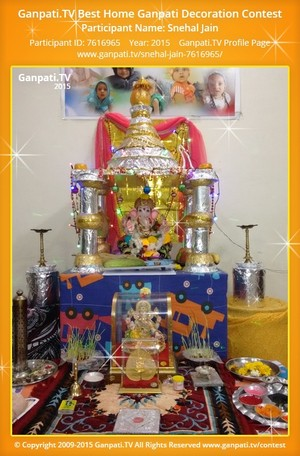 Snehal Jain Ganpati Decoration