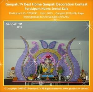 Snehal Kale Ganpati Decoration