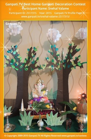 Snehal Valame Ganpati Decoration