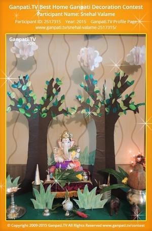 Snehal Valame Ganpati Decoration