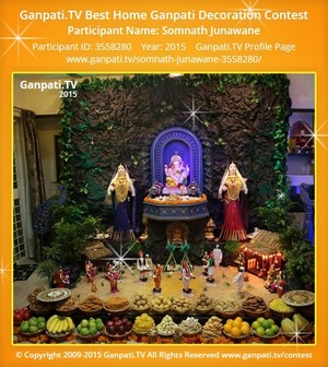 Somnath Junawane Ganpati Decoration