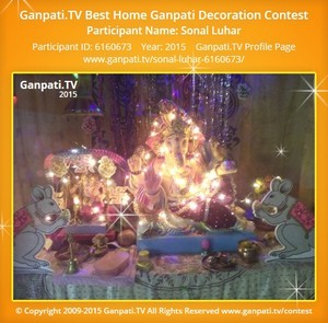 Sonal Luhar Ganpati Decoration