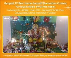 Sonal Manmohan Ganpati Decoration
