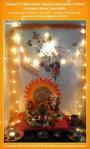 Sonali Bathe Ganpati Decoration