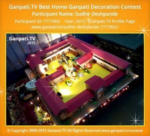 Sudhir Deshpande Ganpati Decoration