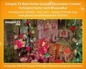 Sunil Bhusavalkar Ganpati Decoration