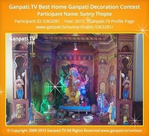 sunny Thopte Ganpati Decoration