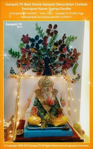 Supriya Pandhe Ganpati Decoration