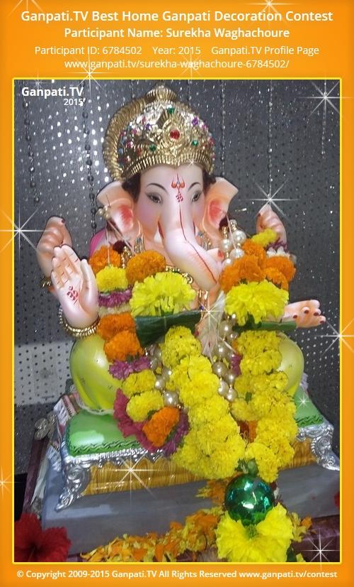 Surekha waghachoure ganpati tv for Artificial flowers decoration for ganpati