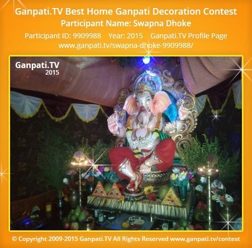 Swapna dhoke ganpati tv for Artificial flowers decoration for ganpati