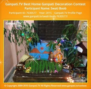 Swati Boob Ganpati Decoration