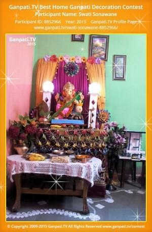 Swati Sonawane Ganpati Decoration