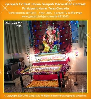 Tejas Chovatia Ganpati Decoration