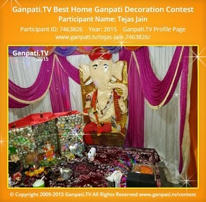 Tejas Jain Ganpati Decoration