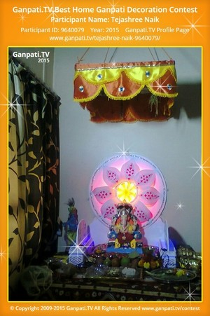 Tejashree Naik Ganpati Decoration