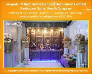 Umesh Gangwani Ganpati Decoration