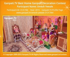 Umesh Yewale Home Ganpati Picture