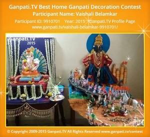Vaishali Belamkar Ganpati Decoration