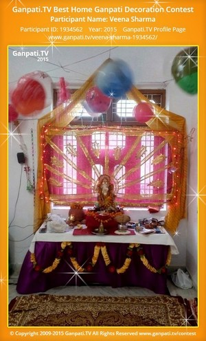 Veena Sharma Ganpati Decoration