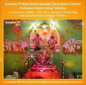 Veena Todankar Ganpati Decoration