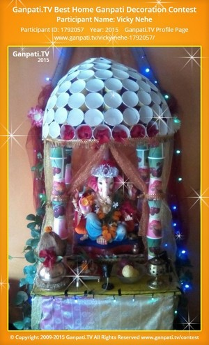 Vicky Nehe Ganpati Decoration