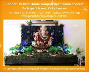 Vicky Sangani Ganpati Decoration