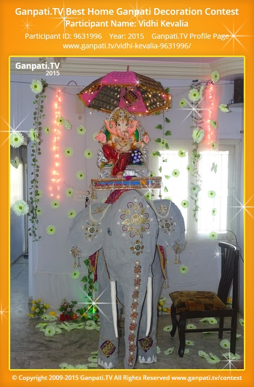 Vidhi kevalia ganpati tv for Artificial flower decoration for ganpati