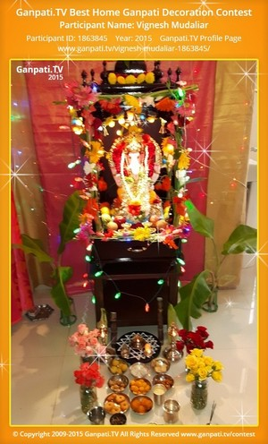 Vignesh Mudaliar Ganpati Decoration