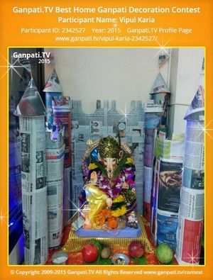 Vipul Karia Ganpati Decoration