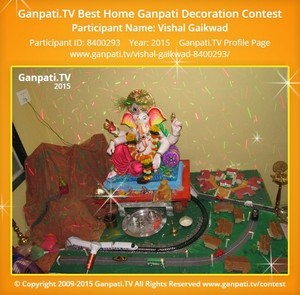 Vishal Gaikwad Ganpati Decoration