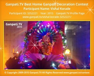 Vishal Korade Ganpati Decoration