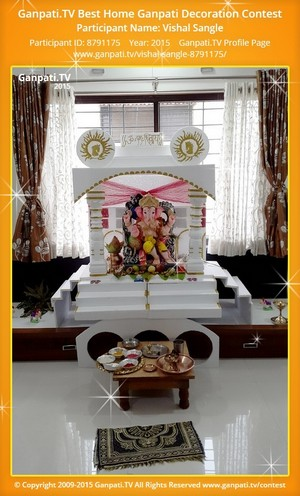 vishal sangle Ganpati Decoration