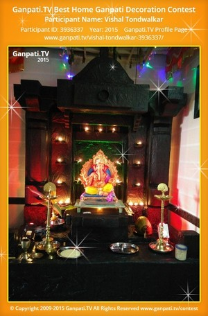 Vishal Tondwalkar Ganpati Decoration