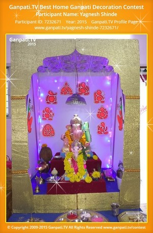 Yagnesh Shinde Ganpati Decoration
