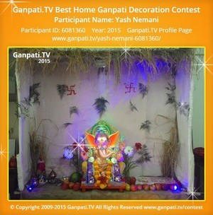 Yash Nemani Ganpati Decoration