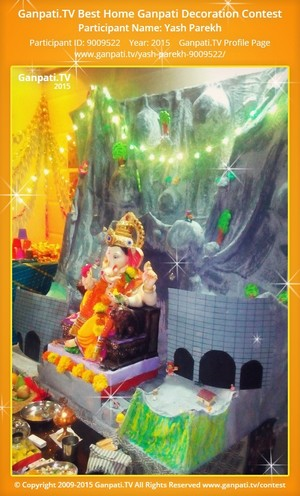 Yash Parekh Ganpati Decoration