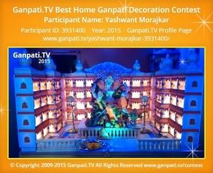 Yashwant Morajkar Ganpati Decoration