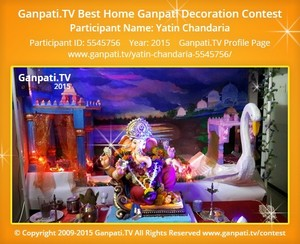 Yatin Chandaria Ganpati Decoration