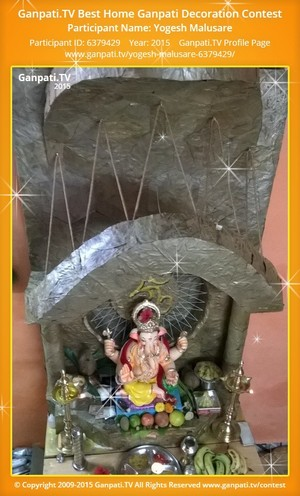 Yogesh Malusare Ganpati Decoration