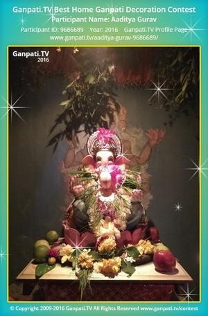 Aaditya Gurav Ganpati Decoration