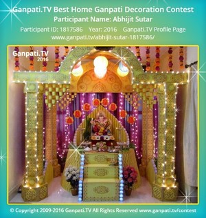 Abhijit Sutar Ganpati Decoration