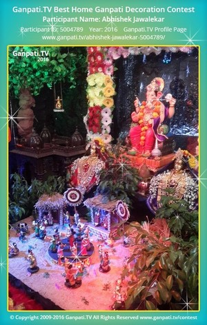 Abhishek Jawalekar Ganpati Decoration