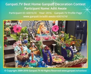 Aditi Awate Ganpati Decoration