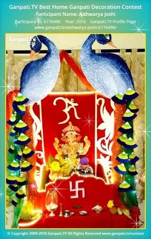 Aishwarya Joshi Ganpati Decoration