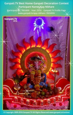 Ajay Nikhare Ganpati Decoration